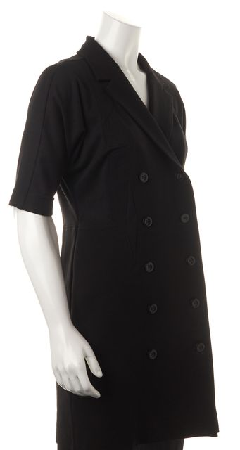 MARC BY MARC JACOBS Black Double Breasted Short Sleeve Basic Jacket
