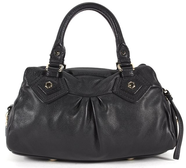 MARC BY MARC JACOBS Black Pebbled Leather Silver Hardware Satchel