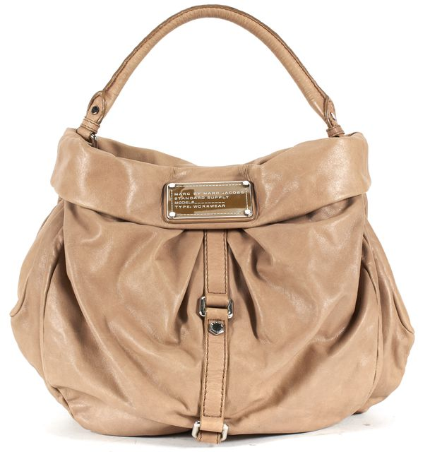 MARC BY MARC JACOBS Brown Leather Hobo Shoulder Bag