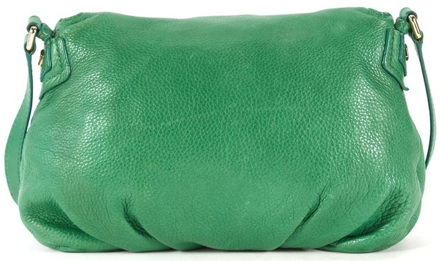 MARC BY MARC JACOBS Green Pebbled Leather Crossbody Bag