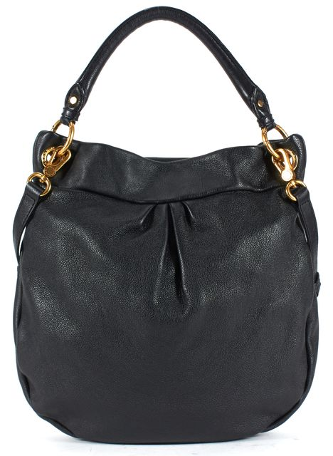 MARC BY MARC JACOBS Black Pebbled Leather Classic Q Hillier Satchel Shoulder Bag