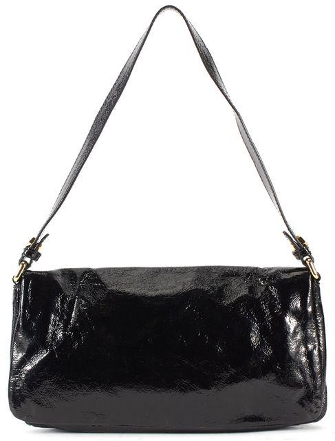 MARC BY MARC JACOBS Black Patent Genuine Leather Shoulder Bag Clutch