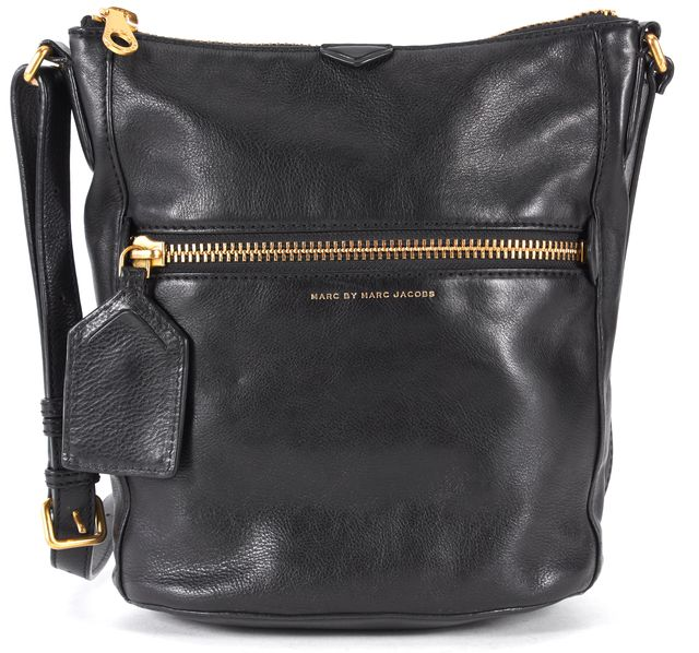 MARC BY MARC JACOBS Black Leather Bucket Shoulder Bag