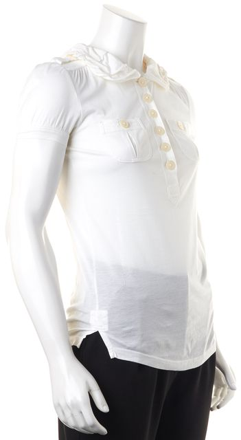 MARC BY MARC JACOBS Short Sleeve Ivory Blouse Top