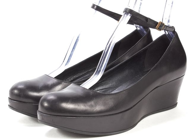 MARC BY MARC JACOBS Black Leather Platform Shoes
