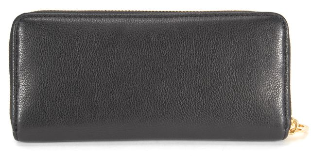 MARC BY MARC JACOBS Black Pebbled Leather Slim Zip Around Wallet