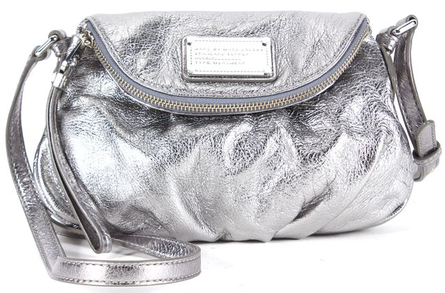 MARC BY MARC JACOBS Silver Genuine Leather Crossbody