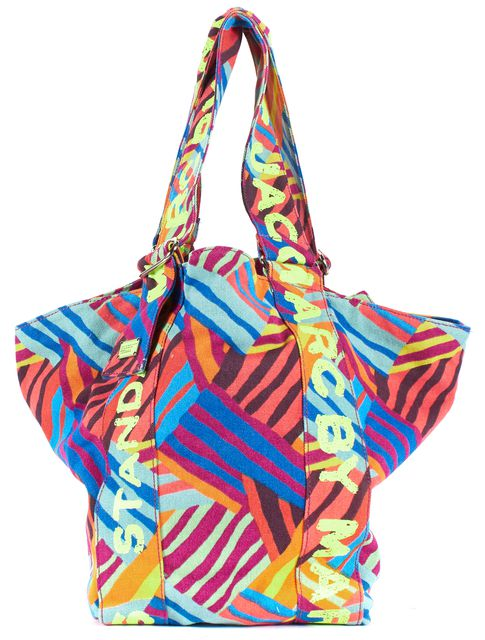 MARC BY MARC JACOBS Misty Pool Multi Graphic Canvas Mabel Tote