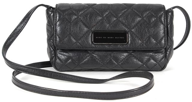MARC BY MARC JACOBS Black Quilted Leather Julie Crosby Crossbody Bag