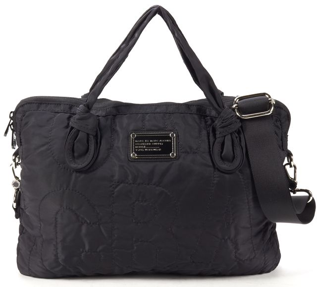 "MARC BY MARC JACOBS Black Nylon 13"" Laptop Shoulder Bag"