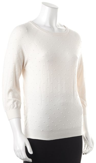 MARC BY MARC JACOBS Ivory Knit Crewneck Sweater