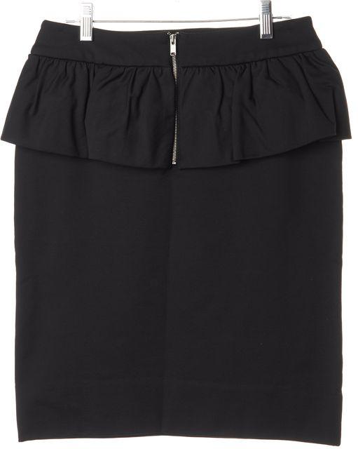 MARC BY MARC JACOBS Black Peplum Above Knee Pencil Skirt