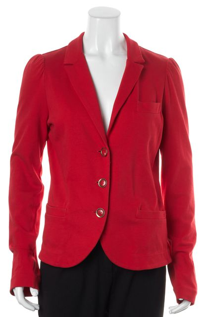 MARC BY MARC JACOBS Red Cotton Triple Button Up Basic Jacket