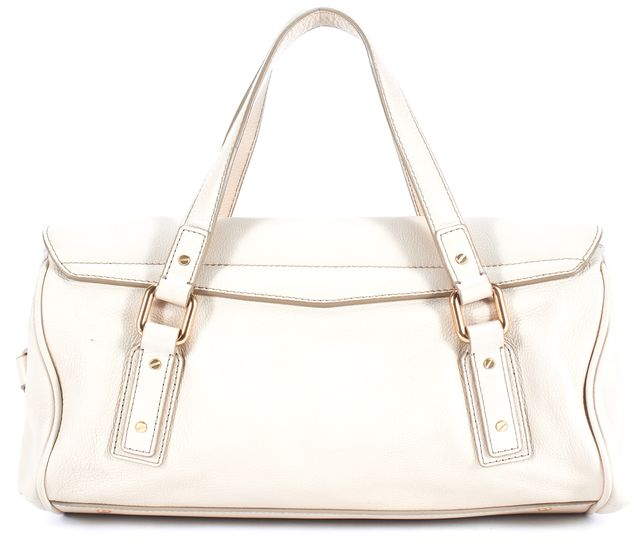 MARC BY MARC JACOBS Beige Leather Gold Hardware Adjustable Strap Satchel