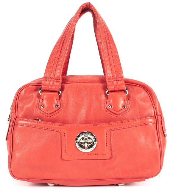 MARC BY MARC JACOBS Red Leather Silver Hardware Shoulder Bag
