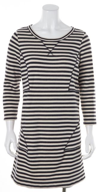 MARC BY MARC JACOBS Navy Blue White Striped Sweater Dress
