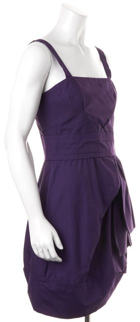 MARC BY MARC JACOBS Deep Purple Sleeveless Cotton Fit & Flare Dress