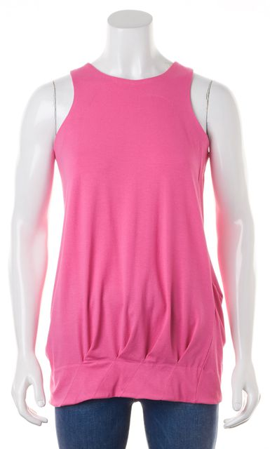 MARC BY MARC JACOBS Pink Sleeveless Racerback Pleated Long Blouson Top