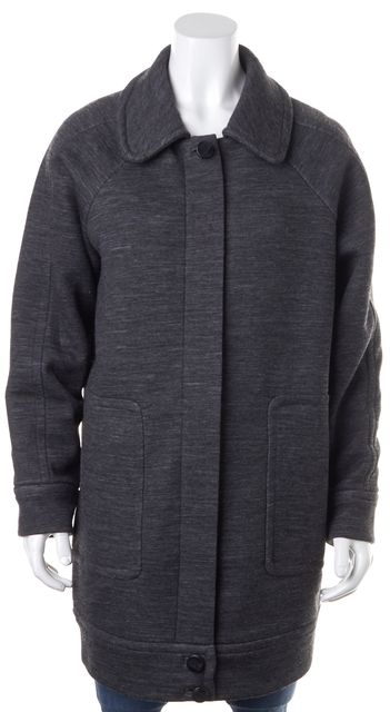 MARC BY MARC JACOBS Asphalt Multi Gray Wool Oversized Cocoon Jacket