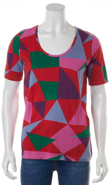 MARC BY MARC JACOBS Envy Green Multi Geometric Short Sleeve T-Shirt