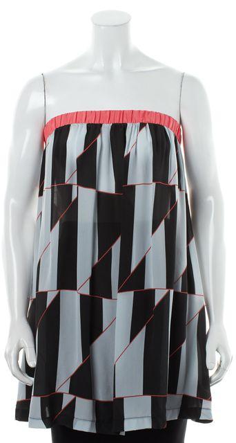 MARC BY MARC JACOBS Gray Black Peach Geometric Print Swimwear Coverup