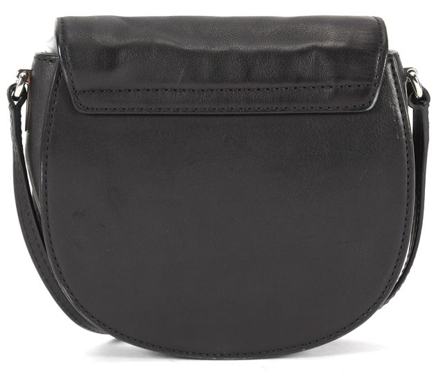 MARC BY MARC JACOBS Black Leather Round Mini Crossbody Bag