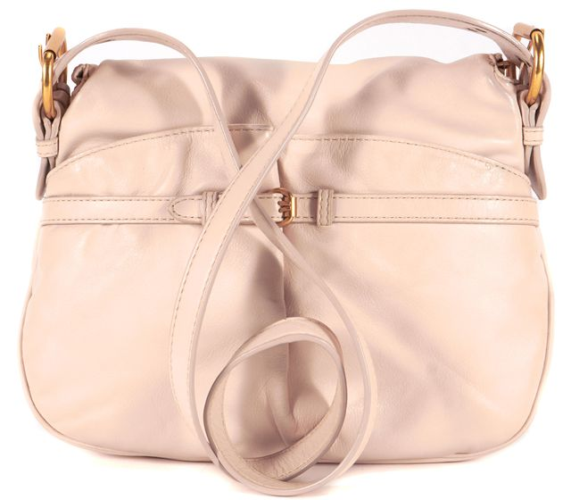 MARC BY MARC JACOBS Beige Leather Gold-Tone Hardware Crossbody Bag