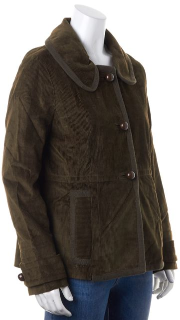 MARC BY MARC JACOBS Dark Olive Green Corduroy Basic Jacket