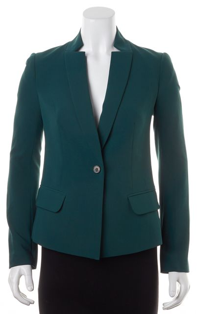 MARC BY MARC JACOBS Pine Green Single Button Pocket Front Blazer