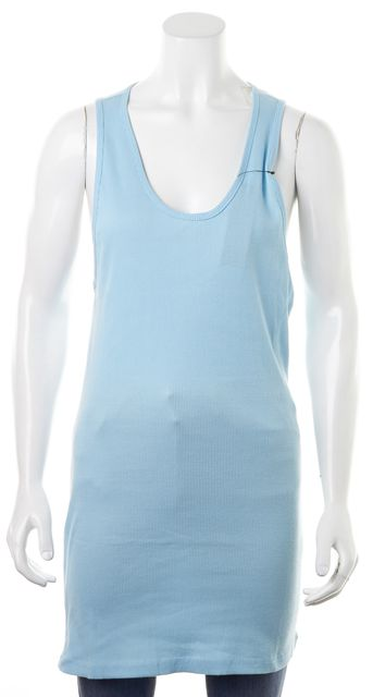 MARC BY MARC JACOBS Powder Blue Rib Knit Scoop Neck Tank Top