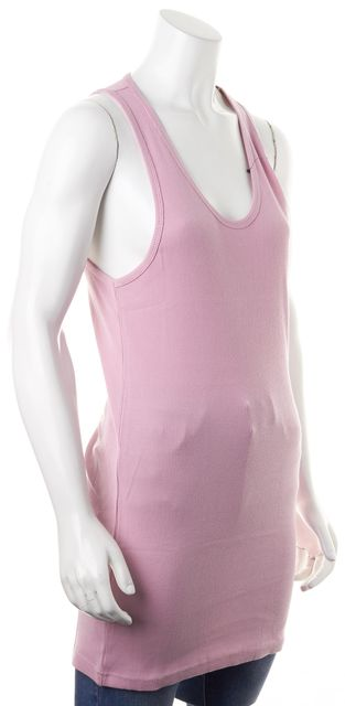 MARC BY MARC JACOBS Cotton Candy Pink Ribbed Scoop Neck Tank Top