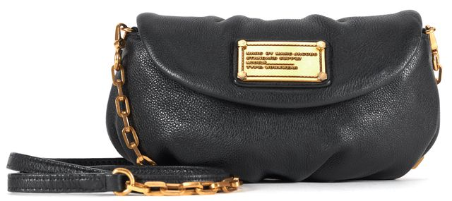 MARC BY MARC JACOBS Black Leather Chain Strap Convertible Crossbody