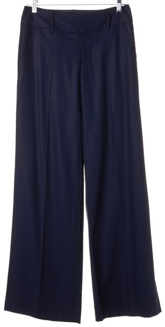 MARC BY MARC JACOBS Navy Blue Wide Flared Leg Trousers Dress Pants