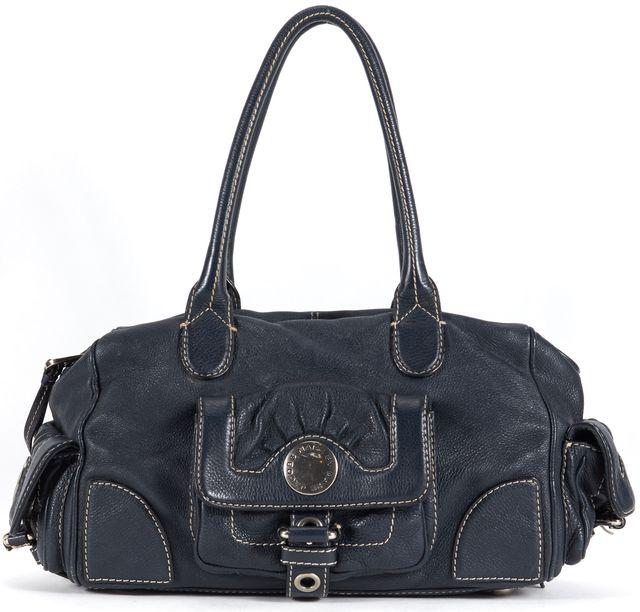 MARC BY MARC JACOBS Navy Blue Leather Shoulder Bag