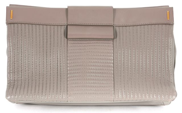 MARC BY MARC JACOBS Taupe Brown Lamb Leather Clutch Bag