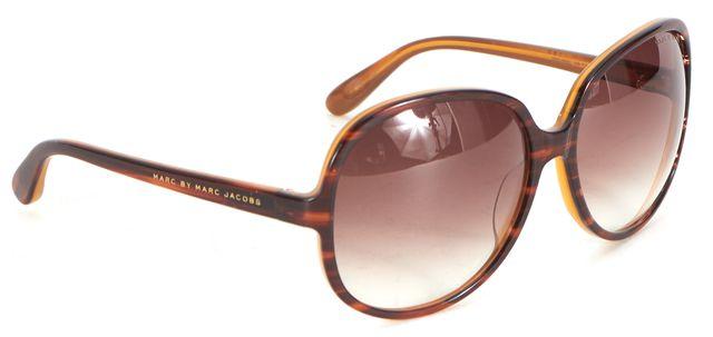 MARC BY MARC JACOBS Havana Brown Acetate Gradient Lens Oval Sunglasses
