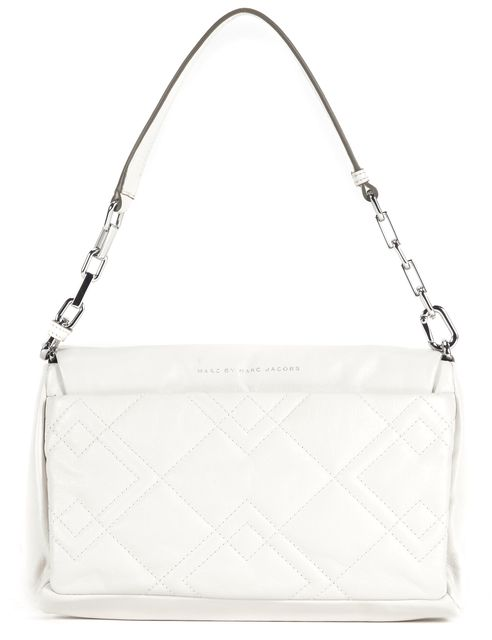 MARC BY MARC JACOBS Ivory Quilted Leather Chain Strap Shoulder Bag