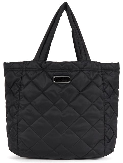 MARC BY MARC JACOBS Black Quilted Polyester Tote Shoulder Bag