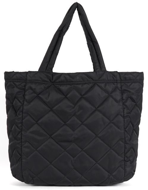 182dbedbfe4e MARC BY MARC JACOBS Black Quilted Polyester Tote Shoulder Bag ...
