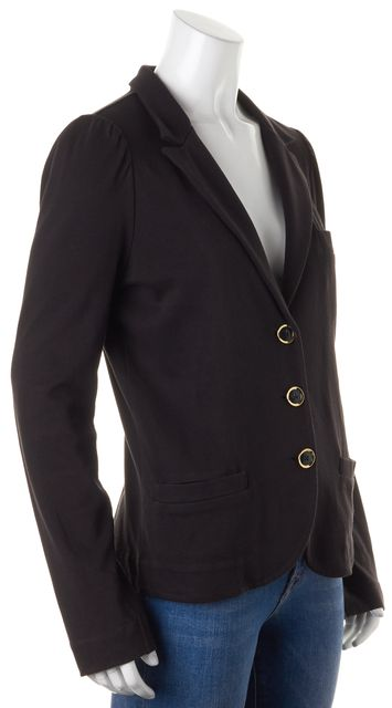 MARC BY MARC JACOBS Black Cotton Jersey Three Button Blazer