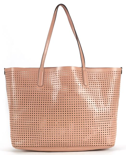 MARC BY MARC JACOBS Dark Buff Beige Perforated Leather Metropolitote Tote