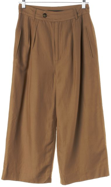 MARC BY MARC JACOBS Brown Cropped High Waisted Trouser Dress Pants