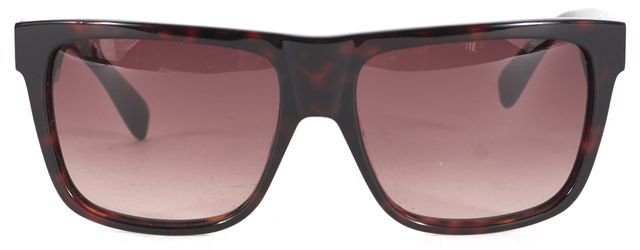 MARC BY MARC JACOBS Brown Acetate Square Sunglasses w/ Case