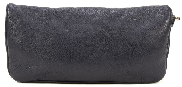 MARC BY MARC JACOBS Black Leather East West Fold Over Wristlet Clutch