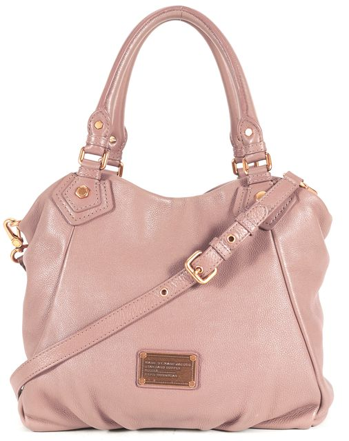 MARC BY MARC JACOBS Beige Brown Pebbled Leather Convertible Satchel