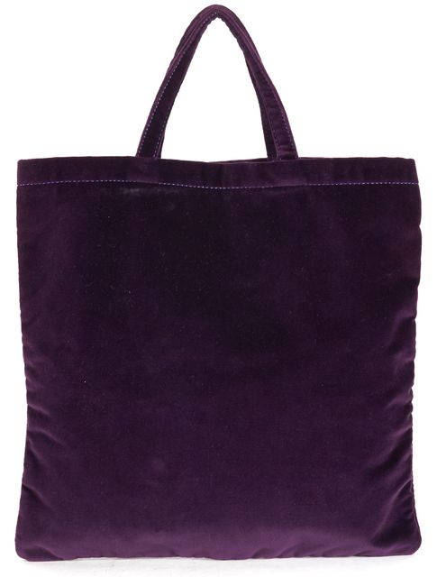 MARC BY MARC JACOBS Purple Velvet Bow Drawstring Tote