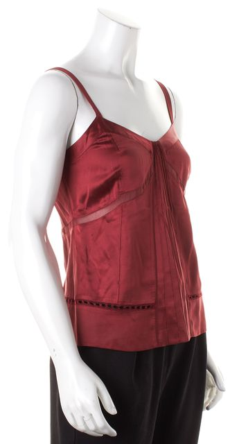 MARC BY MARC JACOBS Red Silk Tank Top