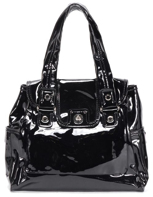 MARC BY MARC JACOBS Black Patent Leather Shoulder Bag