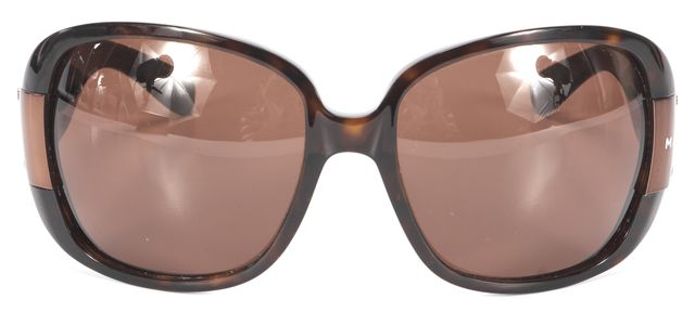 MARC BY MARC JACOBS Brown Tortoise Shell Rectangular Sunglasses w/ Case