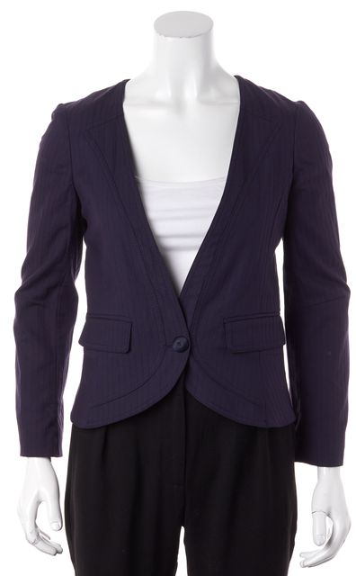 MARC BY MARC JACOBS Navy Blue One Button Blazer